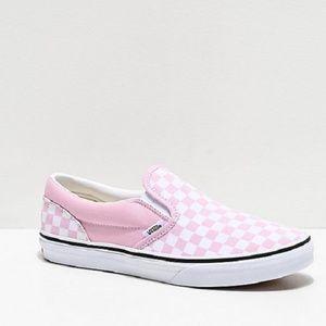 Vans Slip-On Lilac & Snow White Skate Shoes
